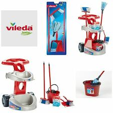 Klein Vileda Childrens Toys - Mops + Buckets, Cleaning Trolley.