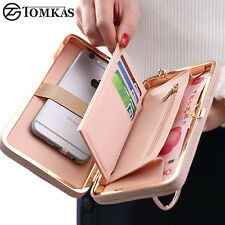 Luxury Universal Women Wallet Phone Bag Leather Case For iPhone Samsung Sony HTC