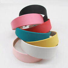 "Wide 38mm(1-1/2"") Alice Suede Look Fabric Hair Band Headband Korean Hairband"