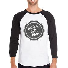 World's Best Dad Mens Baseball Tee Perfect Fathers Day Gift For Him