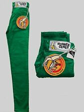 Womens Jeans Monkee Genes Green Sateen Skinny New With Tags