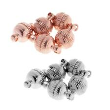 5 Set 8mm Carved Round Ball Magnetic Clasp Closure Strong Connector Bead Finding