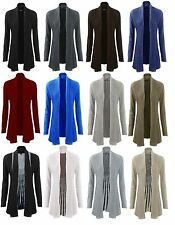 New Womens Ladies Plus Size Knitted Waterfall Boyfriend Long Cardigan 8 to 22