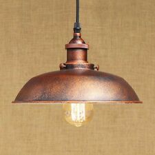 Vintage Retro Industrial Old Copper Pendant Light Ceiling Lamp Shade Cafe Bar