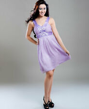 Brand New V Neck Clubwear Cocktail Party Dress With Crystal Beads