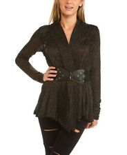 Brand New Ruched Long Sleeve Cardigan Sweater