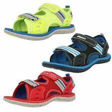 Boys Clarks Piranha Boy Blue, Yellow Or Red Washable Doodles Sandals