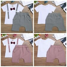 2pcs Newborn Toddler Infant Baby Boy Clothes T-shirt Tops+Pants Outfits Set Cute