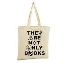 They Are Not Only Books Tote Bag Harry Potter Hunger Games Divergent Mortal