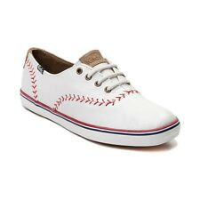 NEW Womens Keds Champion Pennant Leather Casual Shoe White Shoes