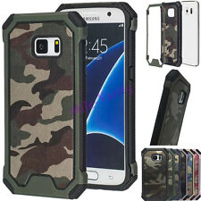 Dual Layer Army Camo Camouflage Hybrid Armor Case Cover For Samsung Galaxy S6 S7