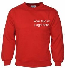 Printed work Jackets personalised sweat shirts printed/embroidered text/logos