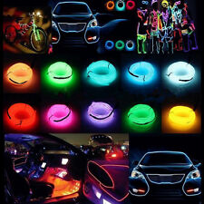 Glow LED Light El Wire String Strip Rope Car Party Decor + 3V/12V/USB Controller