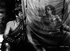 Samson And Delilah Staring Each Other in Black and White High Quality Photo