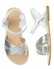 NWT Gymboree Fruit Punch Girls Silver Sandals 10,2