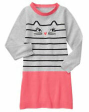 NWT Gymboree Kitty in Pink Kitty Sweater Dress SZ 6,7,8,10, and 12 Girls