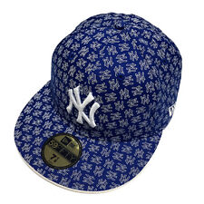 7 1/8 Size MLB New York Yankees Royal Blue 59Fifty Cap Custom Fitted Cap New Era