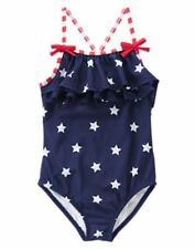 NWT Gymboree Swimsuit 4th July Blue Star Spangled Summer 4 5 6 8 10 12  Girl