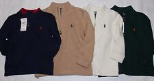New Polo Ralph Lauren Baby/Toddler French Rib 1/2 Zip Pullover Sweater