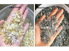 50g Natural Mixed Fluorite Quartz Crystal Rock Stone Yellow Fluorite Rock Stones