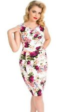 Hearts and Roses H&R Pin Up 50's Retro Vintage Rose Wiggle Dress Rockabilly