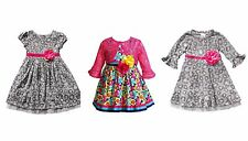YOUNGLAND TIERED GLITTER CHETAH AND KNIT DRESS GIRLS TODDLER