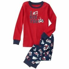 NWT Gymboree Boys Gymmies Pajamas set Truck I Dig You Valentine 3,4,6,7,8,10
