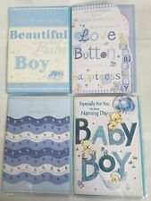 NEW BABY BOY NAMING DAY SON'S/BABY'S/YOUR NAMING DAY CARD 3D/FOIL/GLITTER