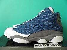 VNDS NIKE AIR JORDAN XIII 13 FLINT RETRO 2010 US 9.5 BLUE GREY RED 414571-401
