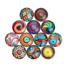 20pcs Mixed Flatback Glass Half Round/Dome Cabochon for Jewelry Making Findings