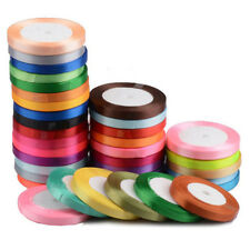 25 Yards Satin Ribbon Wedding Favor Gift Party Craft Sewing Decoration 9 Color
