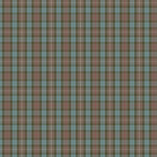Muted Blue and Red Plaid Fabric Printed by Spoonflower BTY