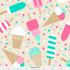 Ice Cream Fabric Printed by Spoonflower BTY