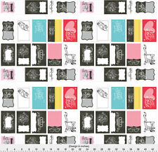 Quilt Labels Fabric Printed by Spoonflower BTY