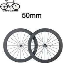 700C 50mm Clincher 3K Carbon Wheels Carbon Road Bike Bicycle Light Wheelset
