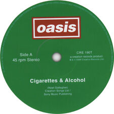 OASIS record label stickers. Supersonic, Shakermaker, Cigarettes & Alcohol