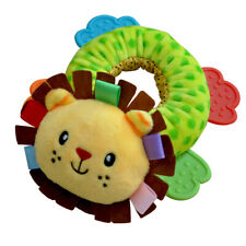 Baby Infant Rattle with Teether Teething Plush Animal Soft Toy Development Baby
