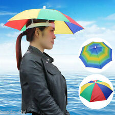 Headwear Umbrella Hat Cap Beach Sun Rain Fishing Camping Hunting Rainbow color