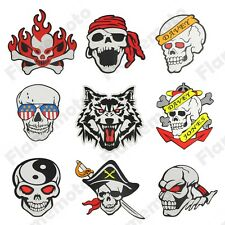 Motorcycle Motocross ATV Racing Bike Skull Cross Pirate Zombie Sticker Decals