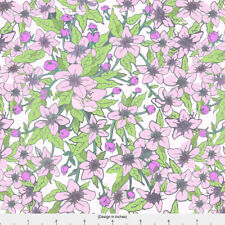 Summer Cherry Blossom Fabric Printed by Spoonflower BTY