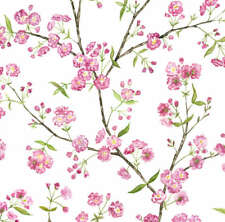 Spring Cherry Blossom Fabric Printed by Spoonflower BTY