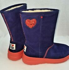 "WOMENS UGG BOOTS ""I LOVE UGG"" BLUE WITH HEART NEW MULTI SIZES"