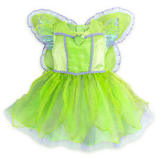 NWT Disney Store baby TINKER BELL costume Detachable wings Toddler 6 12 18 24M