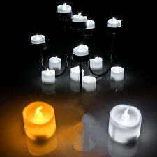 12 Flameless Battery Christmas LED Tea Light Flickering Amber Tealights Candles