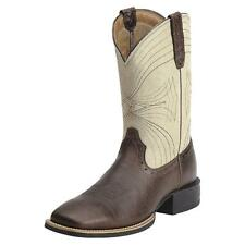 Ariat Western Mens Boots Sport Cowboy Brown Bone Crackle 10012786