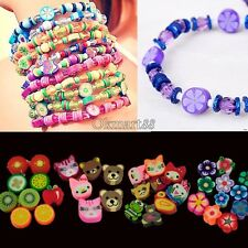 100 PCS Clay Beads DIY Slices Mixed Color Fimo Polymer Clay OK03
