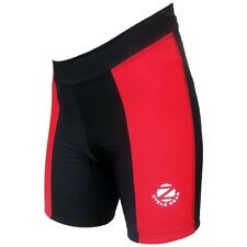 Zimco Pro Women's Cycling Shorts Ladies Cycle Shorts Padded Black/Red ZM182N