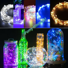 20-50 LED BATTERY OPERATED MICRO WIRE MINI STRING FAIRY PARTY XMAS WEDDING LIGHT