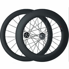 60+88mm Clindher Carbon Wheels Road Bicycle Road Bike Track Fixed Gear Wheelset