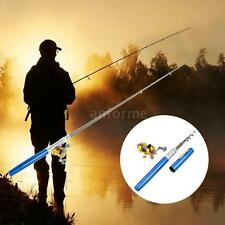 Telescopic Fishing Rod Reel Combo Kit Pocket Pen Fishing Rod Pole  Reel Set D5Q0
